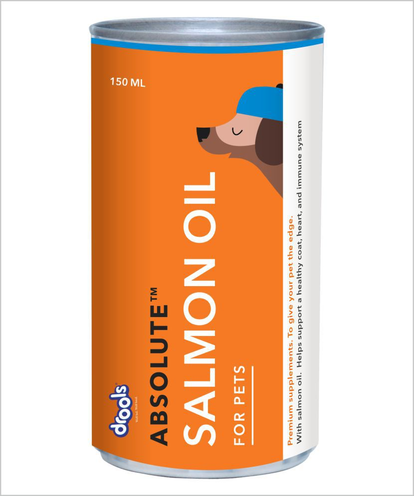 Drools Absolute Salmon Oil Syrup Dog Supplement, 150 ml