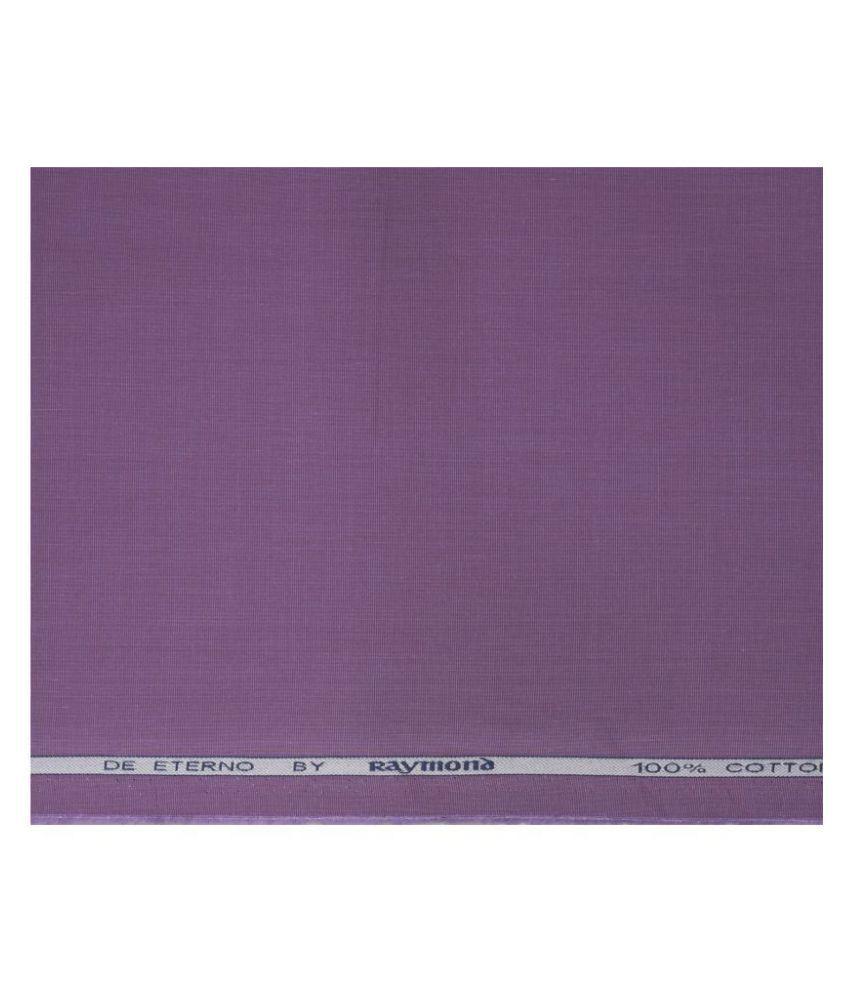 Raymond Purple 100 Percent Cotton Unstitched Shirt pc