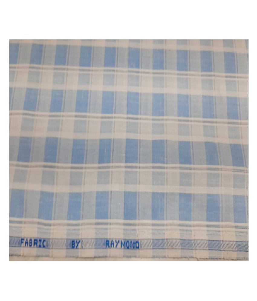 Raymond Blue Cotton Blend Unstitched Shirt pc