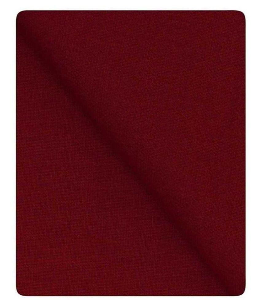 CRAFT LEE Maroon Linen Unstitched Shirt pc