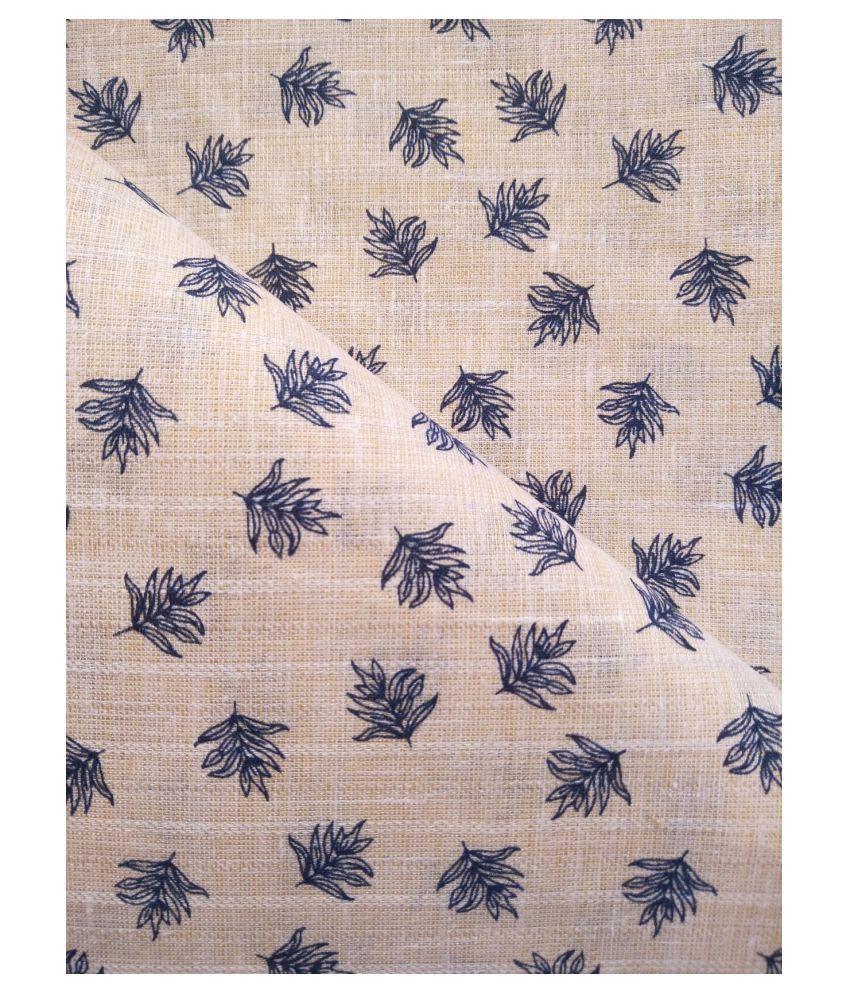 Makhanchor Peach 100 Percent Cotton Unstitched Shirt pc Single