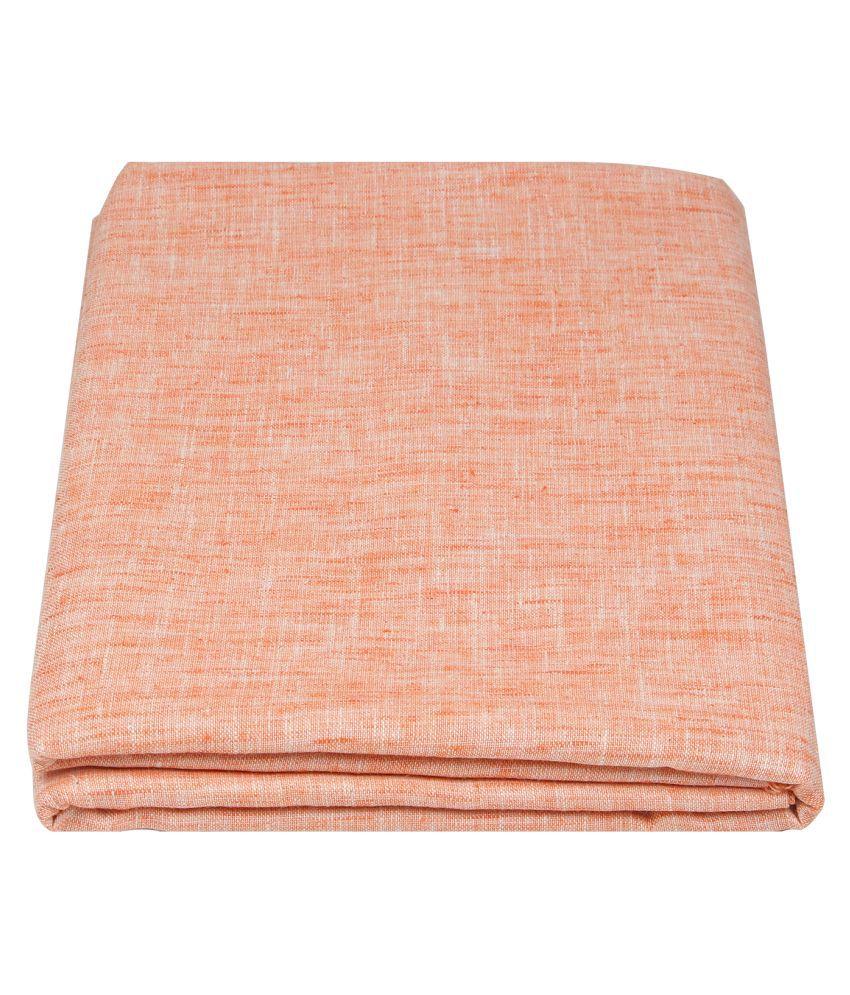 Maharaja Orange Linen Unstiched Kurta